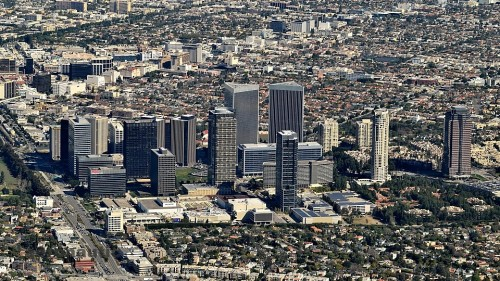 Aerial Photography Los Angeles - Century City Picture aerial view