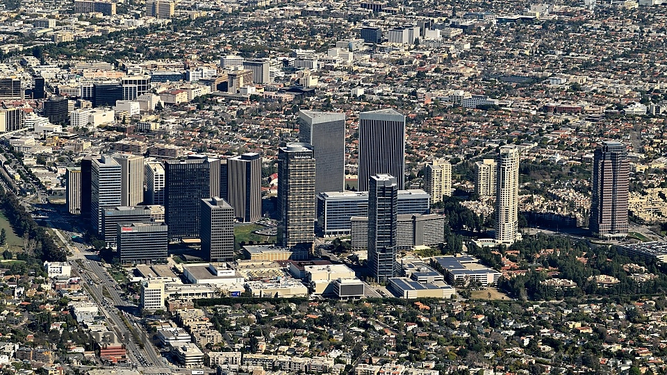 Aerial Photography Los Angeles -Century City Aerial Photo