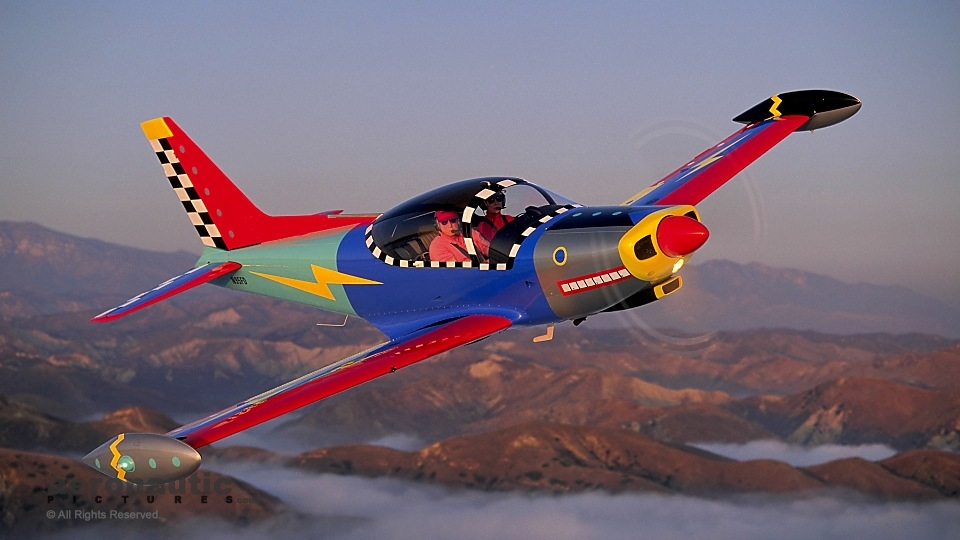 Aerial Photography Ventura Colorful Plane
