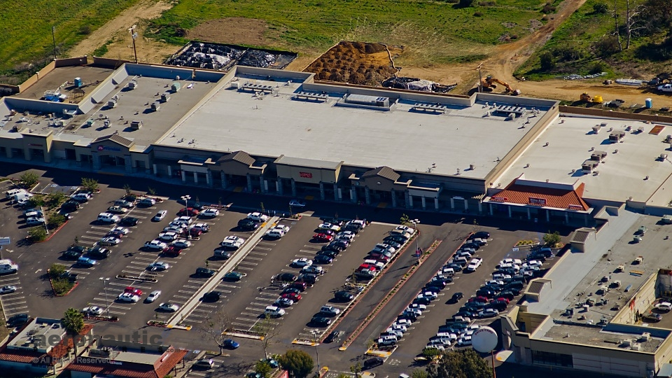 Aerial Photography San Diego - Vons Mall - Encinitas