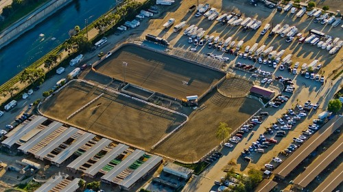 Burbank Equestrian Center Aerial View - Aerial Photography Los Angeles