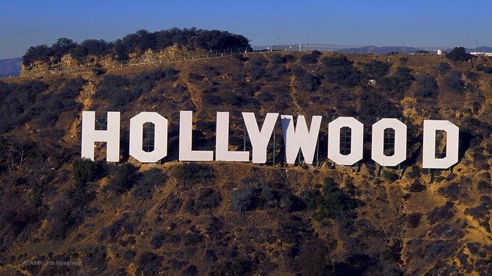 Aerial Photography Los Angeles - Hollywood Sign Aerial Photo