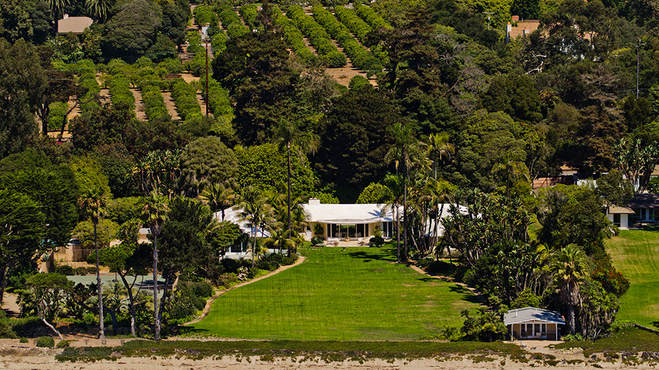 Aerial Photography Santa Barbara of Montecito Mansion