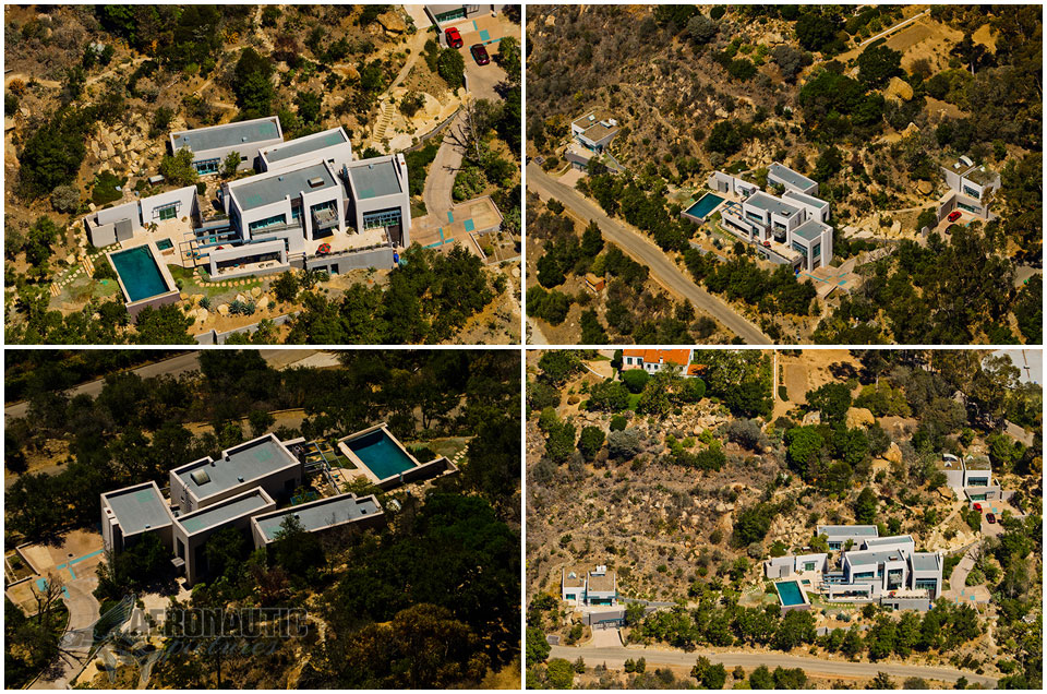 Aerial Photography Santa Barbara Hillside Mansion Aerial View Montecito