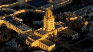 Aerial View Beverly Hills City Hall – Sunset – Aerial Photography Los Angeles
