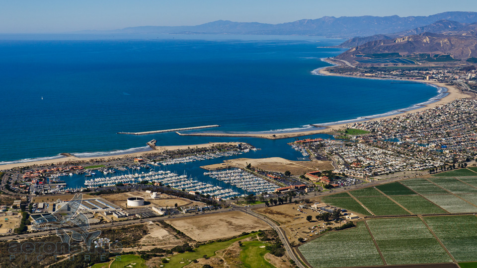 Aerial Photography Ventura Harbor and Coastline