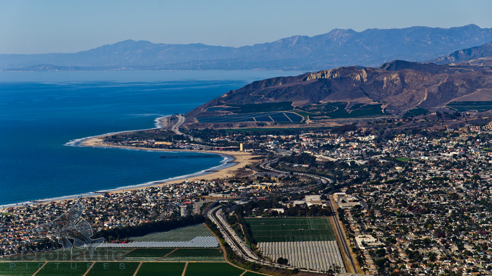 Ventura Aerial Photography - Ventura Pier and Santa Barbara