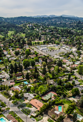 Aerial Photography Los Angeles View of Woodland Hills