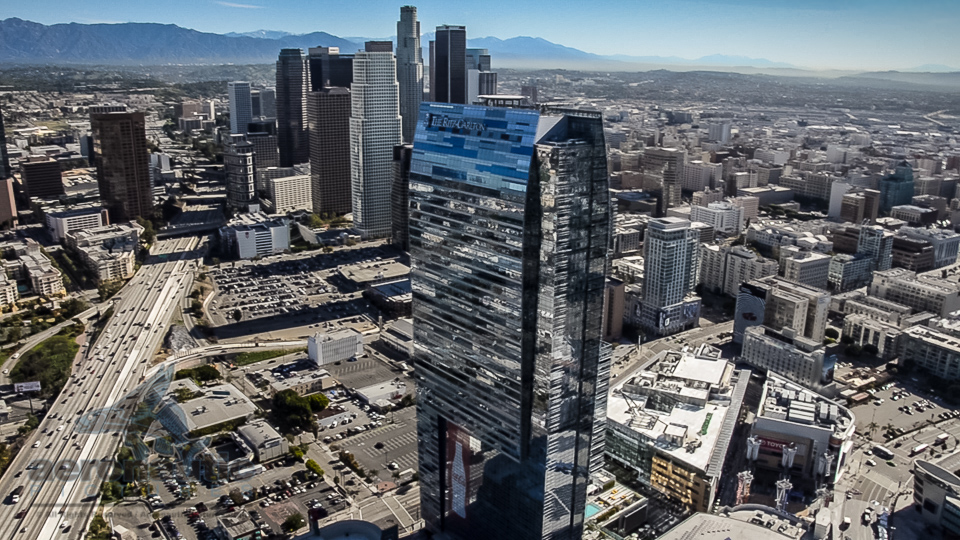 Aerial Photography Los Angeles View of Downtown LA Skyscrapers
