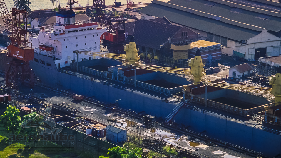 Yacht Photography Los Angeles Bulk Carrier In Drydock