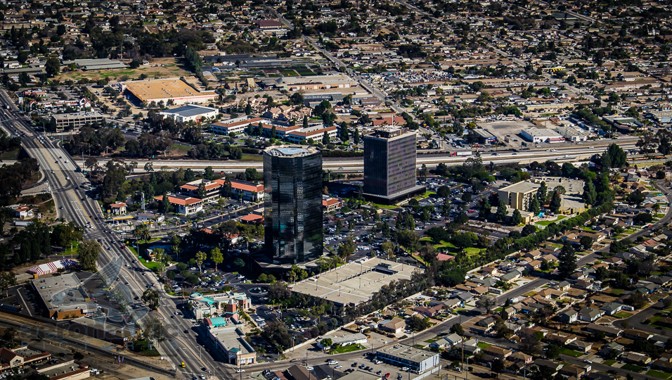 Aerial Photography Oxnard View of Financial Plaza Towers - Ventura Aerial Photography