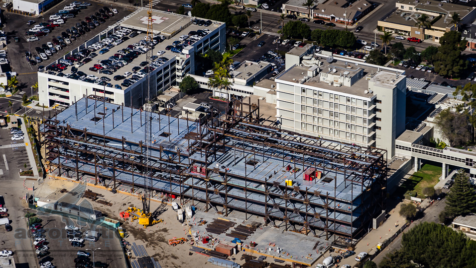 Aerial Photography Ventura - Community Memorial Hospital Ventura Aerial Stock Photo of Construction