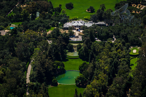 Aerial Photography Santa Barbara - Aerial View Oprah Winfrey's Santa Barbara Mansion