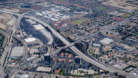 Aerial Photography Ventura - View of Financial Plaza Towers and The Collection Mall