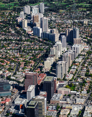 Aerial Photography Los Angeles - Wilshire Corridor - Westwood