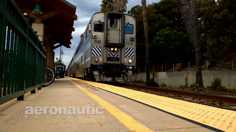 Train Station Time Lapse HD Stock Footage
