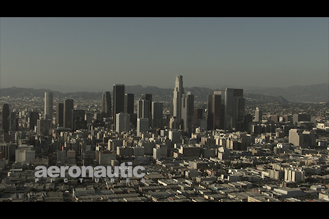 Los Angeles Aerial Stock Footage HD Downtown LA Skyscrapers