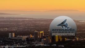 Los Angeles Aerial Stock Footage 2K HD - Century City - Sunset Establishing Shot