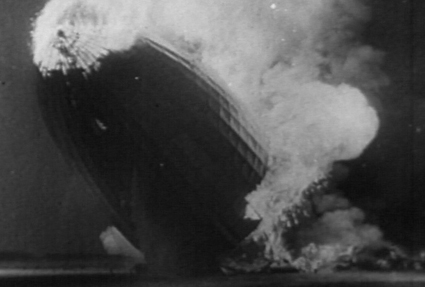 Hindenburg Fire Explosion Crash Stock Footage Picture