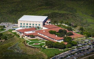 Reagan Library Aerial View Stock Photo
