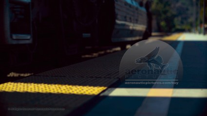 4K Train Stock Footage - Passenger Train Departing HD