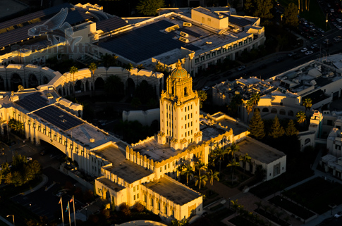 Beverly Hills Stock Photos – Aerial View Beverly Hills City Hall