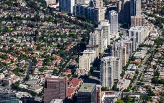 Los Angeles Aerial Stock Photos | Aerial View Wilshire Corridor Westwood