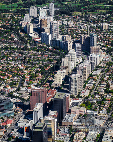 Los Angeles Aerial Stock Photos | Aerial View Wilshire Corridor Westwood