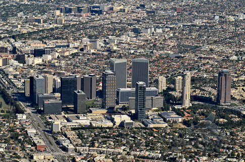 Los Angeles Aerial Stock Photo - Aerial View Century City