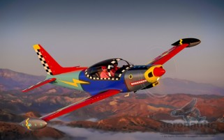 Siai-Marchetti SF-260 Airplane Stock Photo