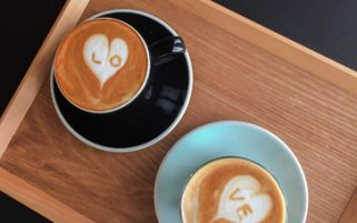 Coffee Stock Photo - Hearts Love Latte Art - Food Stock Photos