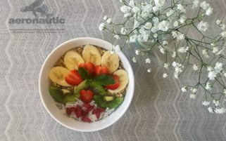 Food Stock Photo - Breakfast Bowl of Chia Pudding with Fruit