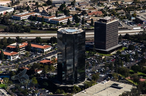 Aerial View Oxnard Financial Plaza Tower - Aerial Photography Los Angeles