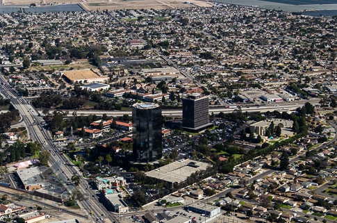 Aerial View Oxnard Financial Plaza - Aerial Photography Los Angeles