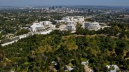 Aerial Filming Los Angeles Selling LA – Getty Center With Los Angeles Beyond
