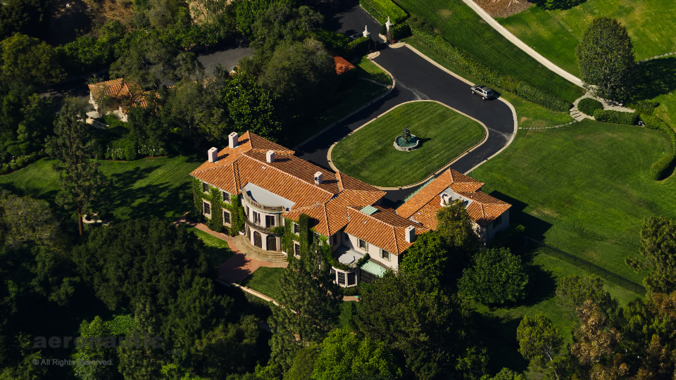 Aerial Photography Los Angeles - Owlwood Estate Aerial Photo