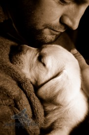Photographer Los Angeles - Man and Puppy