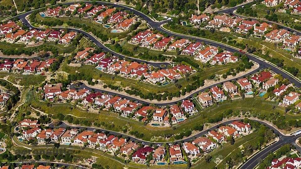 Orange County Irvine California Homes Aerial View