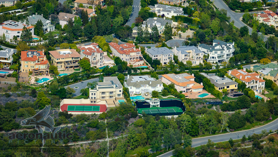 Bel Air Mansions Aerial View | Aerial Photography Los Angeles