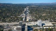 Aerial View Sherman Oaks, Ventura Blvd. and 405 Freeway