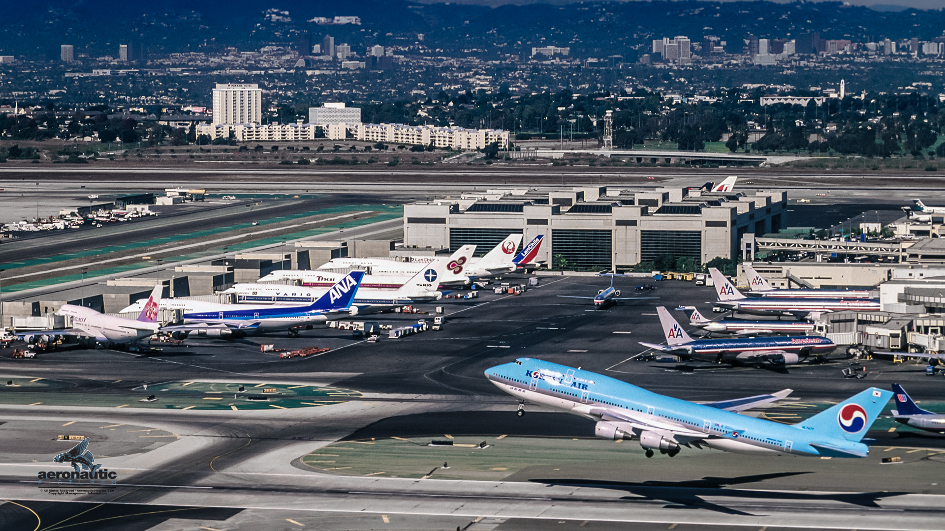 LAX Los Angeles International Airport Aerial View