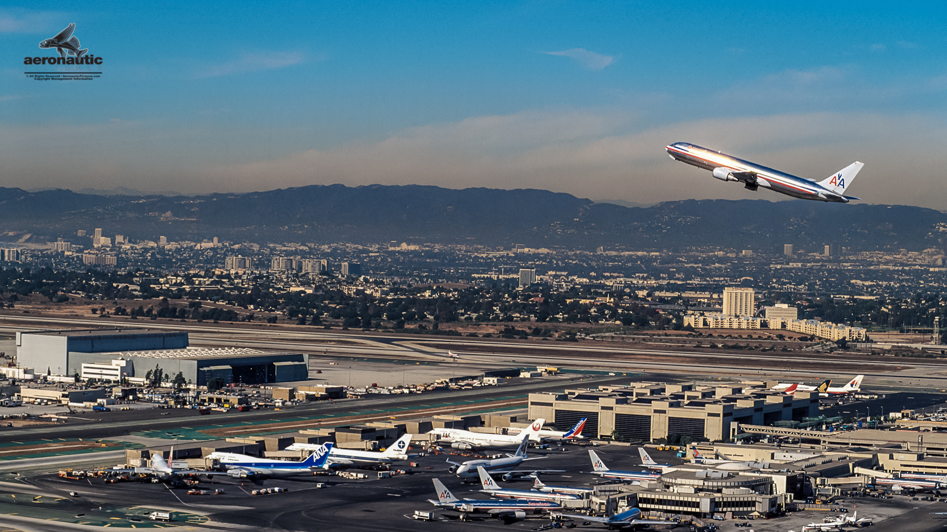 Los Angeles International Airport Aerial View LAX