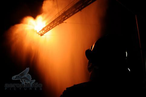 BP Oil Spill Stock Photo - Gas Flare Burn Off