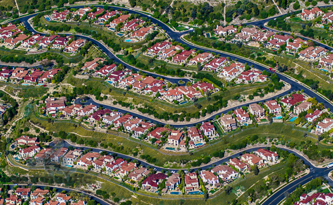 Orange County California Homes Aerial Stock Photo