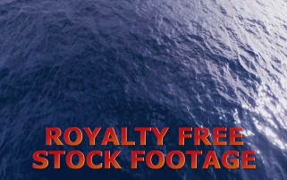 Flying Over Water Motion Backgrounds Plate Royalty Free Stock Footage HD