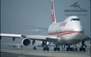 TWA Flight 800 Crash Plane Picture - Boeing 747 - Stock Photo