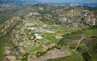 Boeing Santa Susana Aerial View Stock Photo - Rocketdyne Nuclear Site
