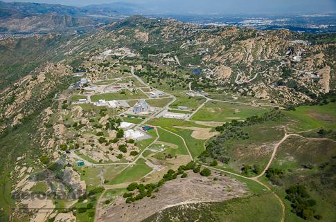Boeing Santa Susana Aerial View Stock Photo - Rocketdyne Nuclear Site