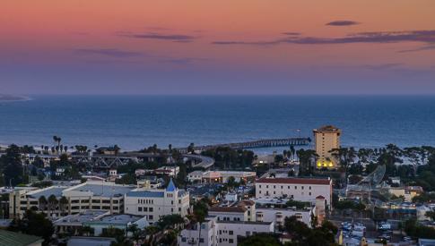 Ventura Downtown & Pier Sunset - Ventura Stock Photos