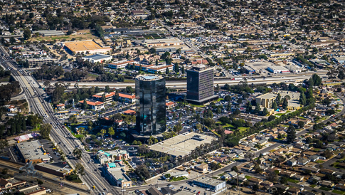Oxnard Financial Plaza Towers Aerial View Stock Image